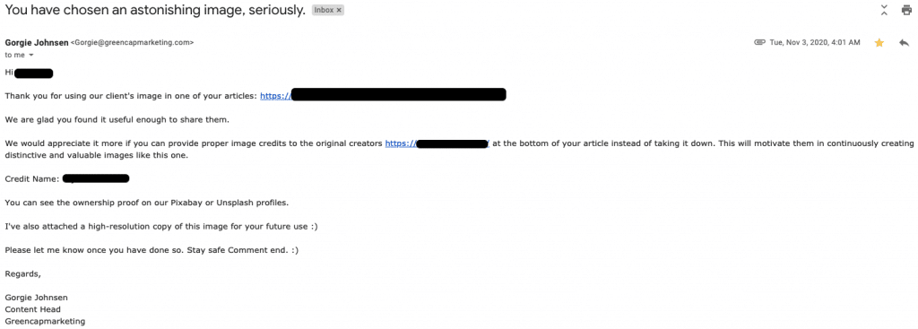 email from scammer 3