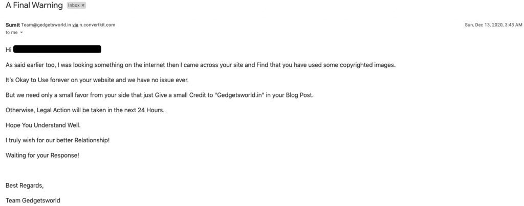 scammer 3rd email