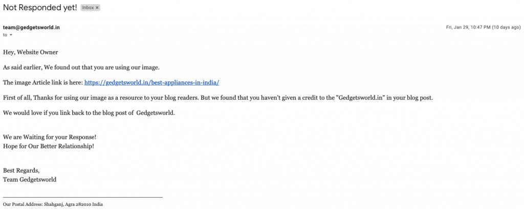 last scammer email