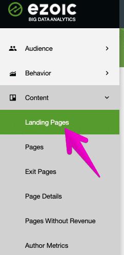 big data analytics landing pages