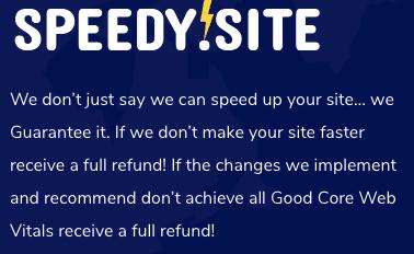 SpeedySite WordPress Speed Optimization Guarantee