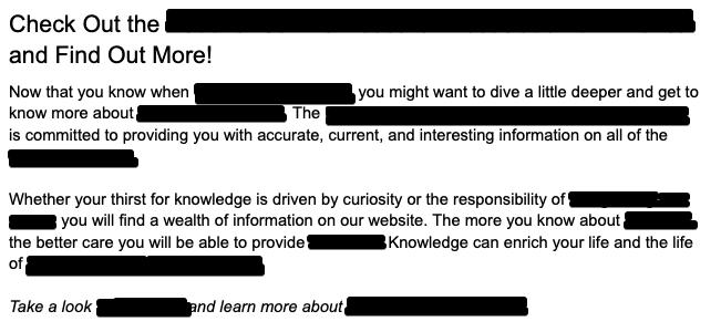 junk paragraph WordAgents