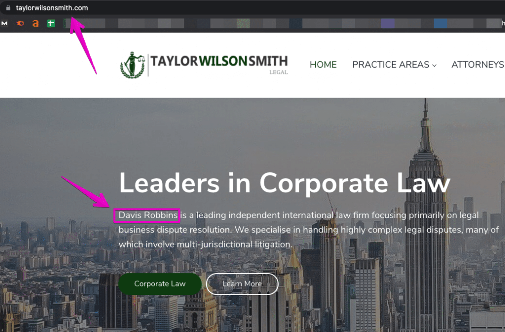 Taylor Wilson Smith Legal Services scam