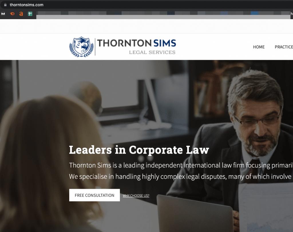 thornton sims legal services scam